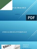 PROFESSIONAL PRACTICE ppt 19SW33