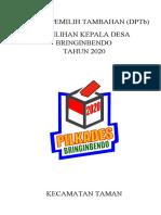 Cover Daftar Pemilih Tambahan