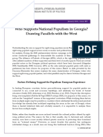 Who Supports National Populism in Georgia? Drawing Parallels with the West