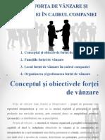FORȚA DE VÂNZARE ȘI FUNCȚIILE EI ÎN CADRUL COMPANIEI