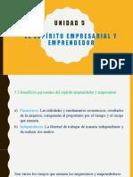 5.3 Beneficios personales del espíritu empresarial y emprendedor