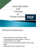 Dementia education and training in Devon