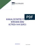 343913009 Manual Partes Mercedes Actros 4144K