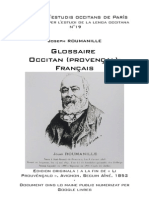 Joseph ROUMANILLE - Glossaire occitan (provençal)-français