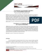 Artigo O Comércio Eletrônico Como Estratégia Competitiva