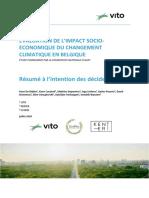 Evaluation de l'impact socioéconomique du changement climatique en Belgique (2020)