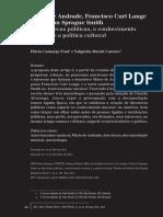 Mário de Andrade, Francisco Curt Lange e Carleton Sprague Smith as discotecas públicas, o conhecimento musical e a política cultural
