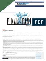 Final Fantasy 1 - Detonado completo e detalhado com dicas e segredos