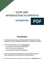 Lecture_9 EstimationRM(ECON 1005 2011-2012)