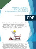 PROGRAMA de OBRA