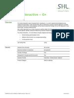 Verify Interactive G plus Factsheet