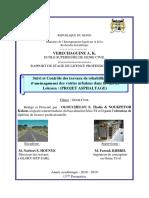 Rapport de Stage de Fin de Formation Pour l'Obtention de Diplome de Licence Professionnelle de THALES ET KOKOU