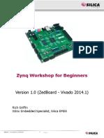 SILICA Xilinx Zynq ZedBoard Vivado Workshop Ver1.0