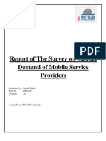 Report of the Survey on Market Demand of Mobile Service Providers