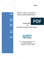 BLIS Assignments 2020-21 (English)