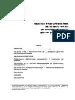 La gestion presupuestaria de estructuras un instrumento para la gestion por resultados