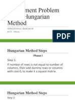 Assignment Problem Using Hungarian Method (1)
