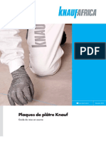 Guide de mise en oeuvre Plaques de platre Knauf