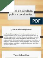 Vicios de la cultura política hondureñas