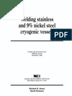 Welding 9%Ni steels