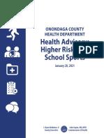 Onondaga Co. HS Sports Guidance