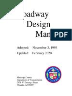MCDOT Roadway Design Manual