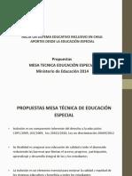 Mesa tecnica educacion especial