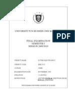 Final Exam Bee 4113 Sem 1 200910