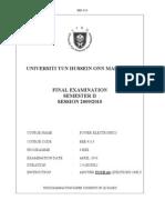 Final Exam Bee 4113 Sem 2 200910