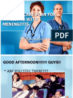 NURSING CARE PLAN FOR PATIIENTS WITH MENINGITIS