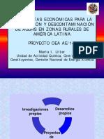 Tecnologias economicas para la desinfeccion y descontaminacion de aguas