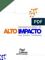 Presentaciones de Alto Impacto - Miguel Zambrano