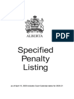 Alberta Specified Penalty Listing - April 2020 - Specpen2020