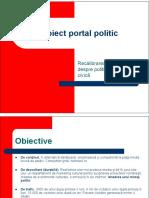 proiect media portal politic