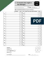 Avaliação Da Identificação de Vogais, Ditongos, Consoantes, Sílabas
