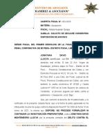 SOLICITO SE DECLARE CONSENTIDA DISPOSICIÓN DE ARCHIVO (M.P)
