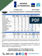 PROMEDIOS Repartido General PU 224