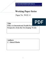 Ethics in International Health Research