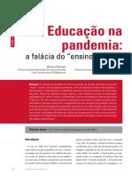 Artigo - Educação na Pandemia - a falácia do ensino remoto
