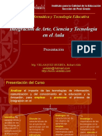 INTEGRACION DE ARTE, CIENCIA Y TECNOLOGIA EN EL AULA