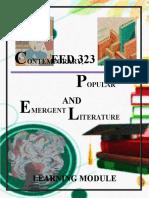 Module in Contemporary, Popular and Emergent Literature(2)