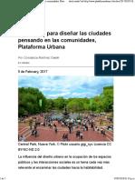 10 razones para diseñar las ciudades pensando en las comunidades