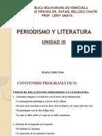 Periodismo y Literatura Unidad III