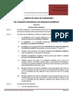Reglamento Junta de Condominio Los Naranjos Humboldt