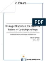 Strategic Stability in the Cold War