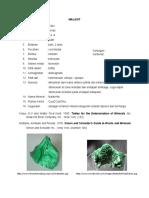 PAPER 3 MINERAL (MALASIT,KALKO,DAN AZUR)