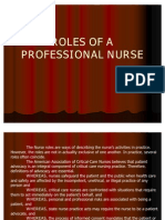 Chapter 1 - ROLES OF A PROFESSIONAL NURSE