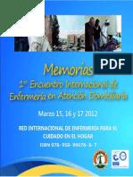 MEMORIA 1er Encuentro Internacional de Enfermeria en Atencion Domiciliaria