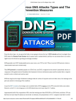 10 DNS Attacks Types and The Mitigate Steps - 2020