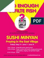 Sushi Minyan Flyer